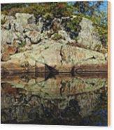 Rocky Reflection Wood Print
