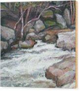 Rocky River Wood Print
