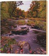 Rocky Run Creek Wood Print