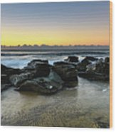 Rocky Seascape Wood Print
