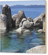 Rocky Shore Wood Print by Janet Fikar