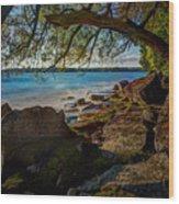 Rocky Shore Wood Print