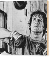 Rocky Sylvester Stallone Collection Wood Print