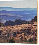 Rocky View Wood Print