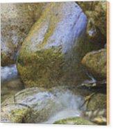 Rocky Water Closeup 2 Wood Print