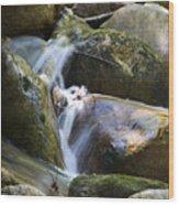 Rocky Water Closeup Wood Print