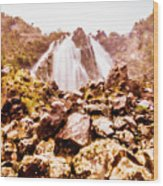Rocky Water Wilderness Wood Print