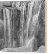 Rocky Waterfall Wood Print