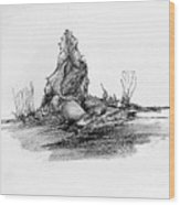 Rocscape 3 Wood Print