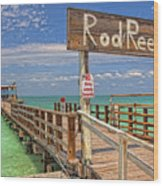 Rod And Reel Pier Anna Maria Island Wood Print