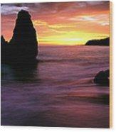 Rodeo Beach At Sunset, Golden Gate Wood Print