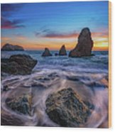 Rodeo Beach Sunset Wood Print