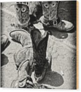 Rodeo Boots And Spurs Wood Print