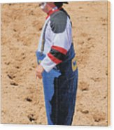 Rodeo Clowns Wood Print