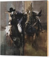 Rodeo Painting Wood Print