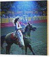 Rodeo Queen In The Spotlight Wood Print