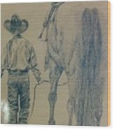 Rodeo Star Wood Print