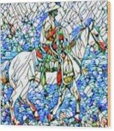 Rodeo Wrangler Mosaic Wood Print