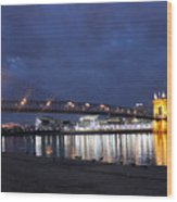 Roebling Bridge Span Wood Print