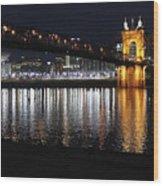 Roebling Bridge Wood Print