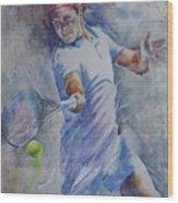 Roger Federer - Portrait 8 Wood Print