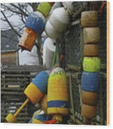 Roger's Buoys Wood Print