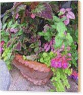 Roger's Gardens Begonia Wood Print