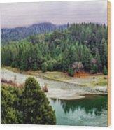 Rogue River Bend Pano Wood Print