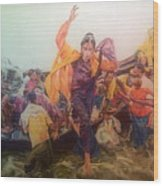 Rohingya Flee Myanmar Wood Print