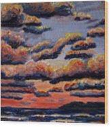 Roiling Skies Wood Print
