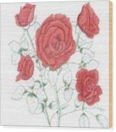 Rojo Cinco Wood Print