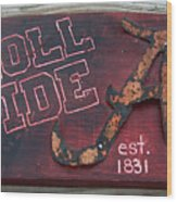 Roll Tide Alabama Wood Print by Racquel Morgan