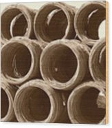Rolled Steele Wood Print