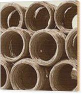 Rolled Steele Wood Print
