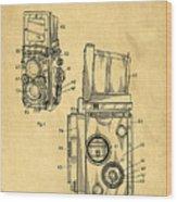 Rolleiflex Medium Format Twin Lens Reflex Tlr Patent Wood Print by Edward Fielding