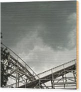Roller Coaster 3 Wood Print