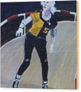 Roller Derby Queen Wood Print