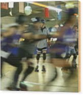 Roller Girls Wood Print