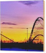 Rollercoaster Of Life Wood Print