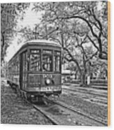 Rollin' Thru New Orleans 2 Bw Wood Print