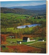 Rolling Countryside Wood Print