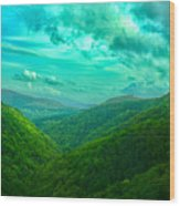Rolling Hills Of Italy Wood Print