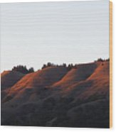 Rolling Hills  Of San Geronimo At Sunset Wood Print