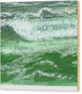 Rolling Ocean Waves Wood Print