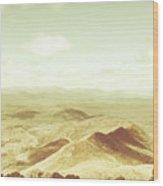 Rolling Rural Hills Of Zeehan Wood Print