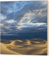 Rolling Sand Dunes Wood Print