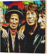 Rolling Stones Mystical Wood Print by Paul Van Scott