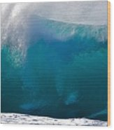 Rolling  Wave At Haleiwa Wood Print