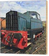 Rolls Royce Sentinel Dl83 Diesel Shunter At The Nene Valley Railway Wood Print