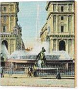 Roma 1900 Piazza Di Termini Wood Print